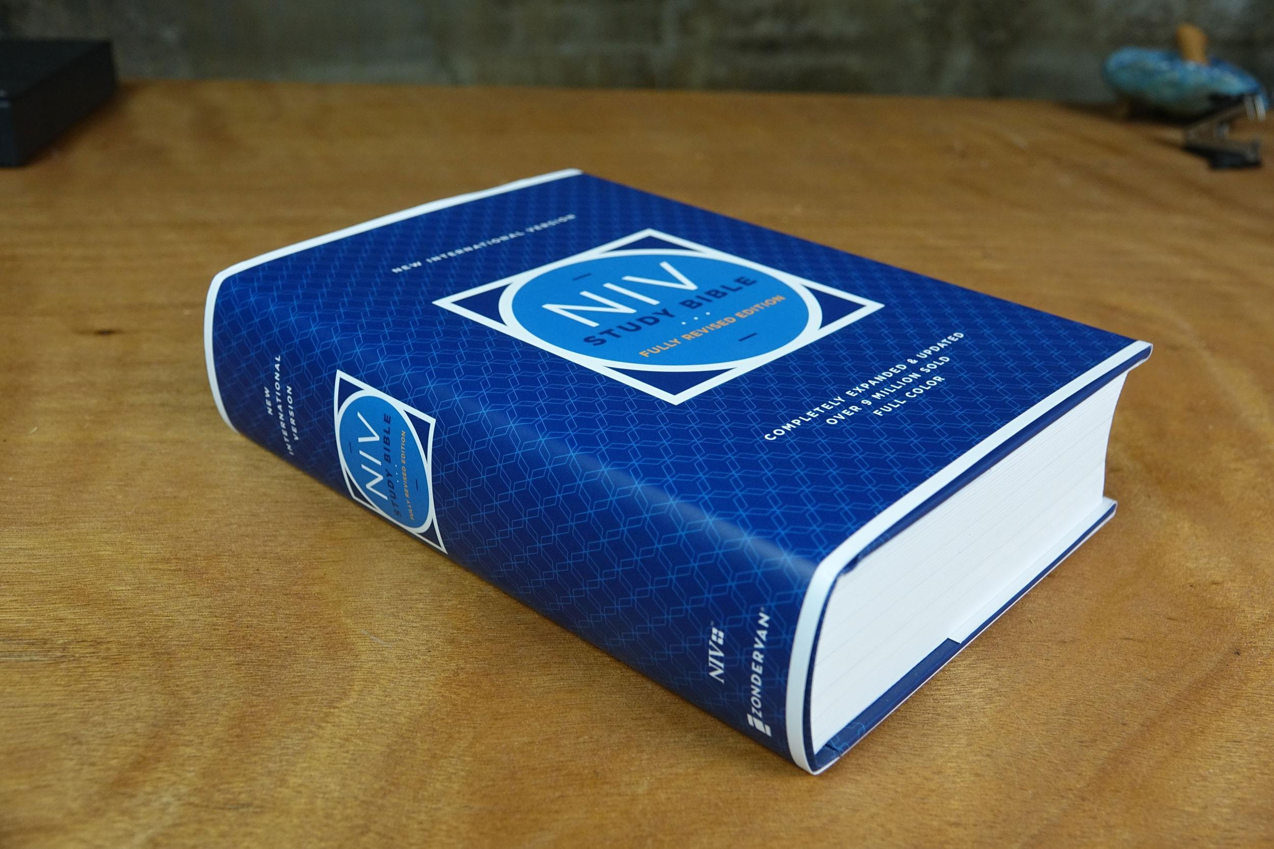 the NIV Study Bible, Fully Revised Edition is heavy