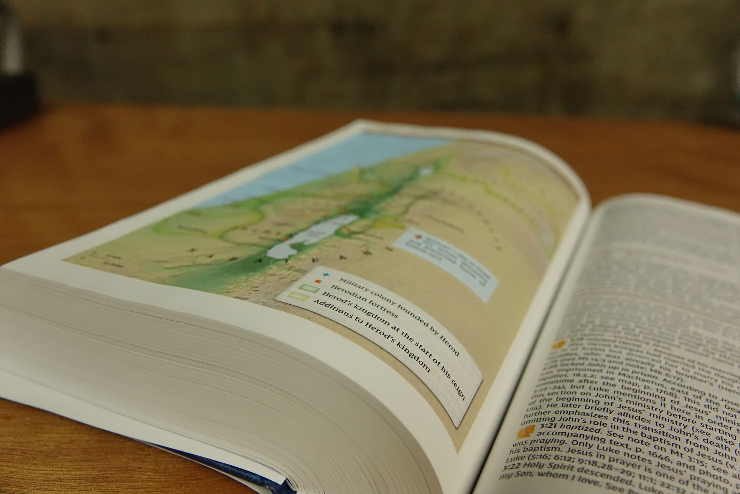 NIV Study Bible Fully Revised Edition map