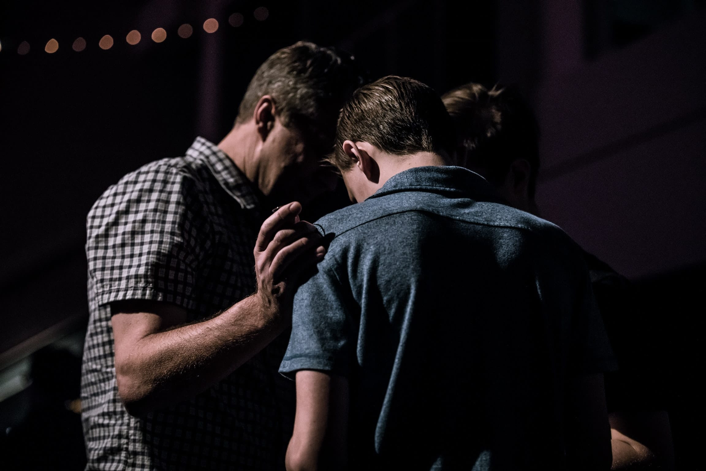 Praying in public for one another